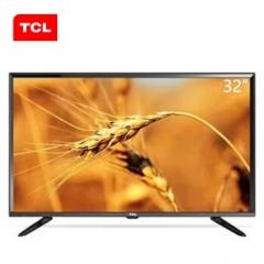 TCL电视 32F1B 32英寸 窄边设计蓝光超薄平板液晶电视 黑色