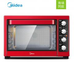 美的(Midea) T3-381C 38L 电烤箱 家用大容量 烘焙烤箱 红色