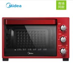 美的-电烤箱-T3-321C红色