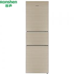 容声(Ronshen)冰箱 BCD-220WKB1NYC 220升 风冷无霜三门 钢化玻璃面板