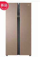 海尔冰箱BCD-615WDCZ对开风冷(自动除霜)自然密码【卡其金】