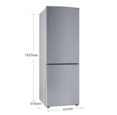 容声(Ronshen) BCD-176RA1D双门家用中小容量节能直冷高效两门电冰箱 拉丝银