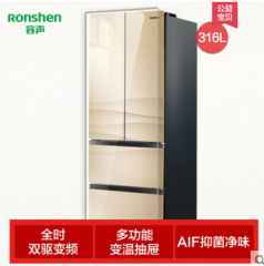 Ronshen/容声 BCD-316WD12MPCA 多门彩晶变频四开门印象冰箱家用