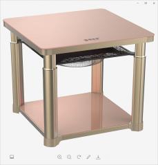 暖洋洋-电取暖桌-WT3(80)玫瑰金