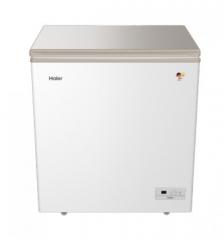 海尔冷柜 BC/BD-203HF 小富豪白色箱体,醇享银彩晶玻璃门体