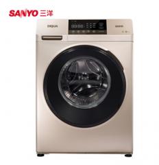 三洋洗衣机8公斤大容量全自动智能变频滚筒洗衣机 DG-F80570B