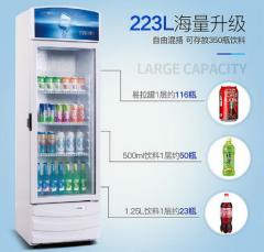 星星LSC-223G冷藏饮料柜保鲜柜展示柜冰柜商用超市立式冰箱陈列柜