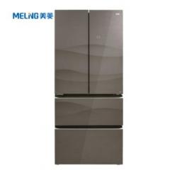 美菱(MeiLing)BCD-466WUPB  风冷无霜智能法式多门家用冰箱 拿铁棕