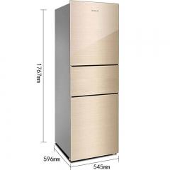 容声BCD-220RC2NEC 220升 玻璃三门家用软冷冻电冰箱小户型专用节能省电冰箱冷藏冷冻