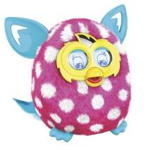 孩之宝 Hasbro 菲比精灵 Furby Boom 儿童玩具 智能娃娃电子宠物 2.0粉底白色波点