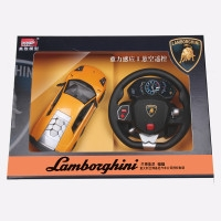 美致兰博基尼1:14 儿童玩具遥控车 充电大遥控汽车 漂移赛跑车儿童礼物 儿童玩具方向盘遥控车 重力